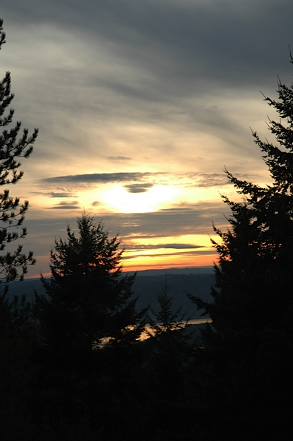 Sunset over Columbia River